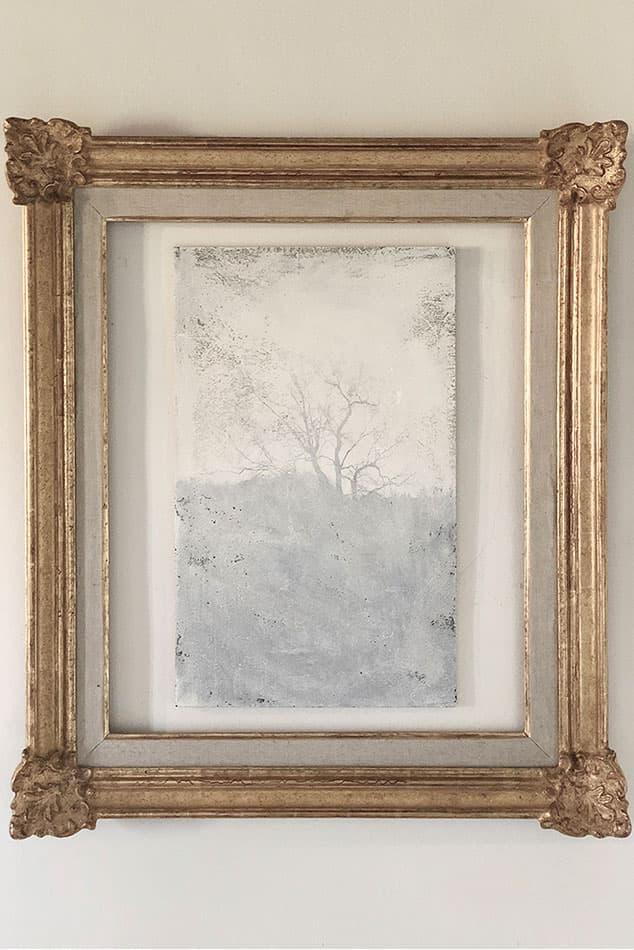 Fotografía abstracta ramas marco antiguo